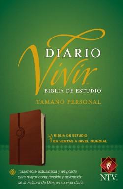 Biblia de estudio del diario vivir NTV, tamaño personal (Letra Roja, SentiPiel, Café claro)