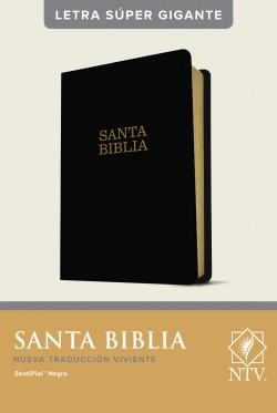 Santa Biblia NTV, letra súper gigante (Letra Roja, SentiPiel, Negro)