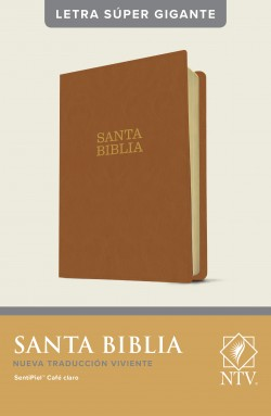 Santa Biblia NTV, letra súper gigante (Letra Roja, SentiPiel, Café, Índice)