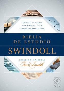 The Biblia de estudio Swindoll NTV (Tapa dura, Azul, Índice)