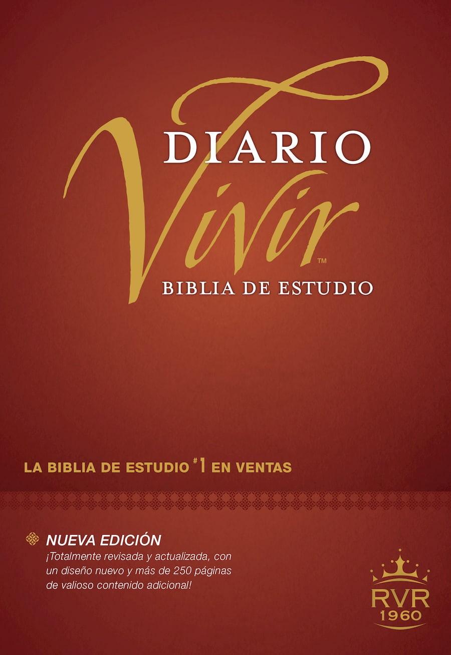Biblia de estudio del diario vivir RVR60 (Letra Roja, Tapa dura, Vino tinto, Índice)