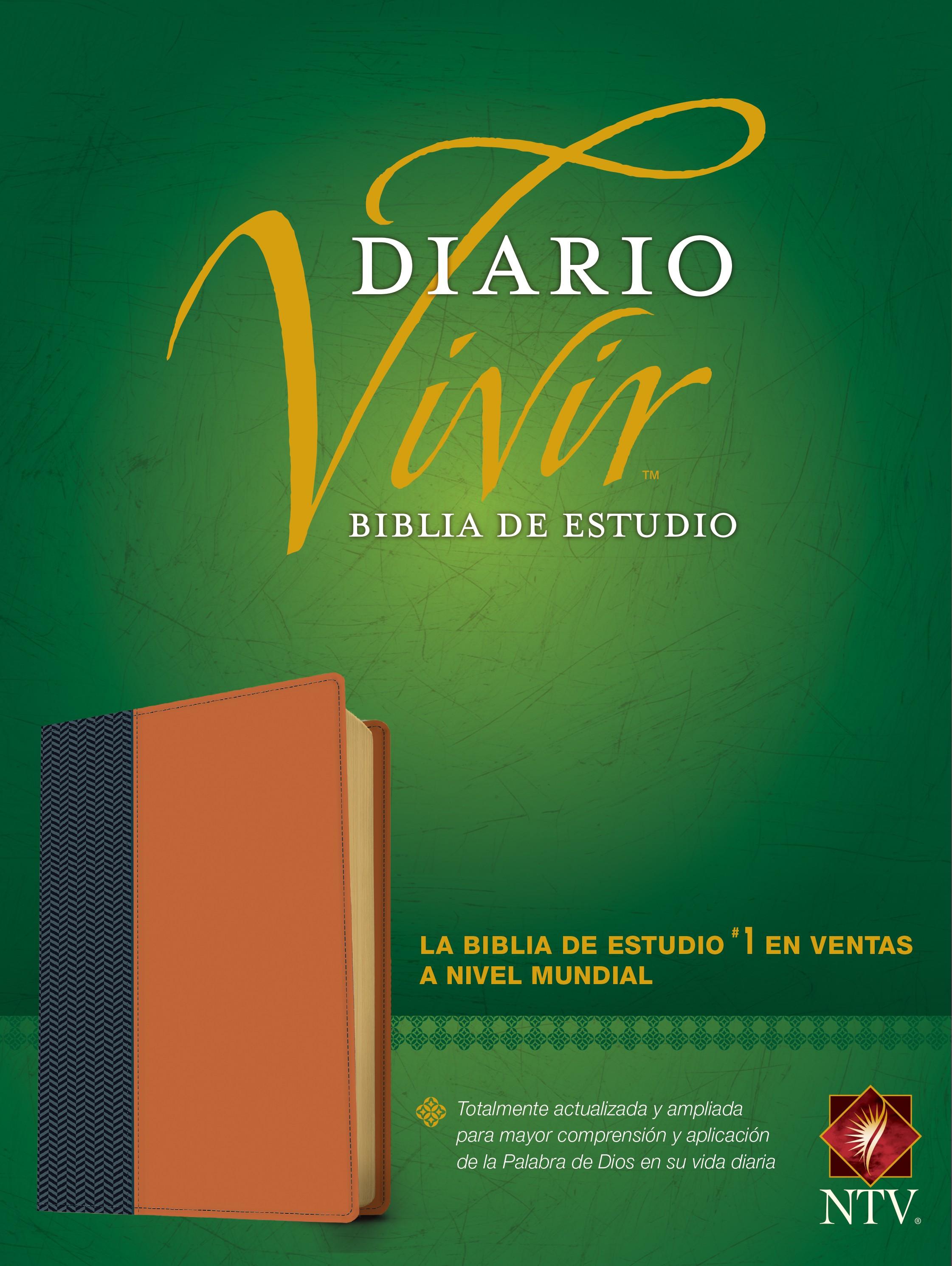 Biblia de estudio del diario vivir NTV (Letra Roja, SentiPiel, Azul/Café claro, Índice)