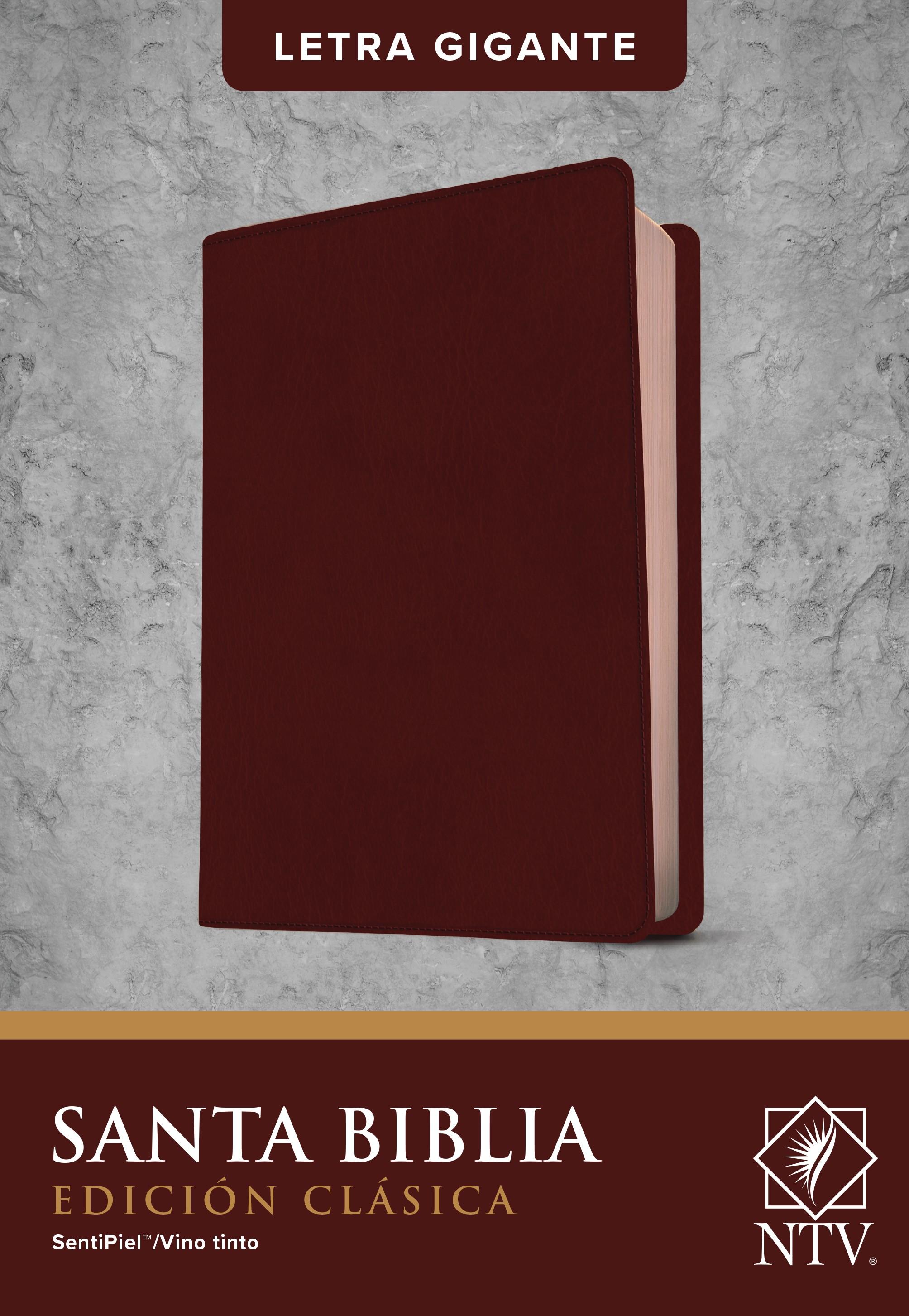 Santa Biblia NTV, Edición clásica, letra gigante (Letra Roja, SentiPiel, Vino tinto)