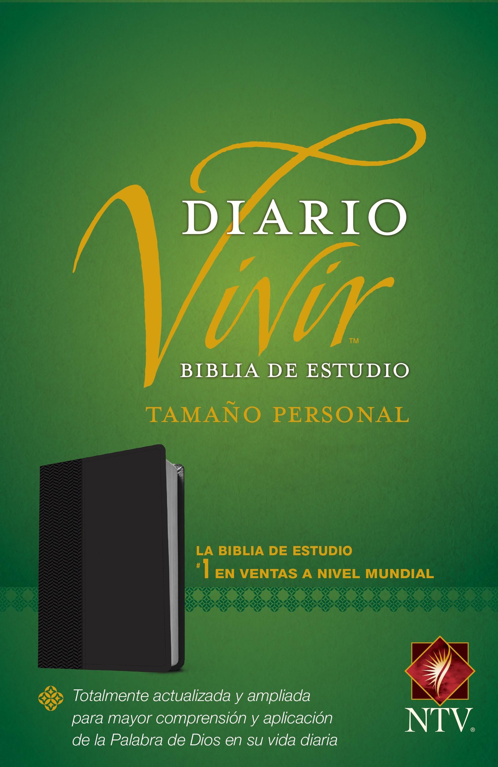 Biblia de estudio del diario vivir NTV, tamaño personal (Letra Roja, SentiPiel, Negro)
