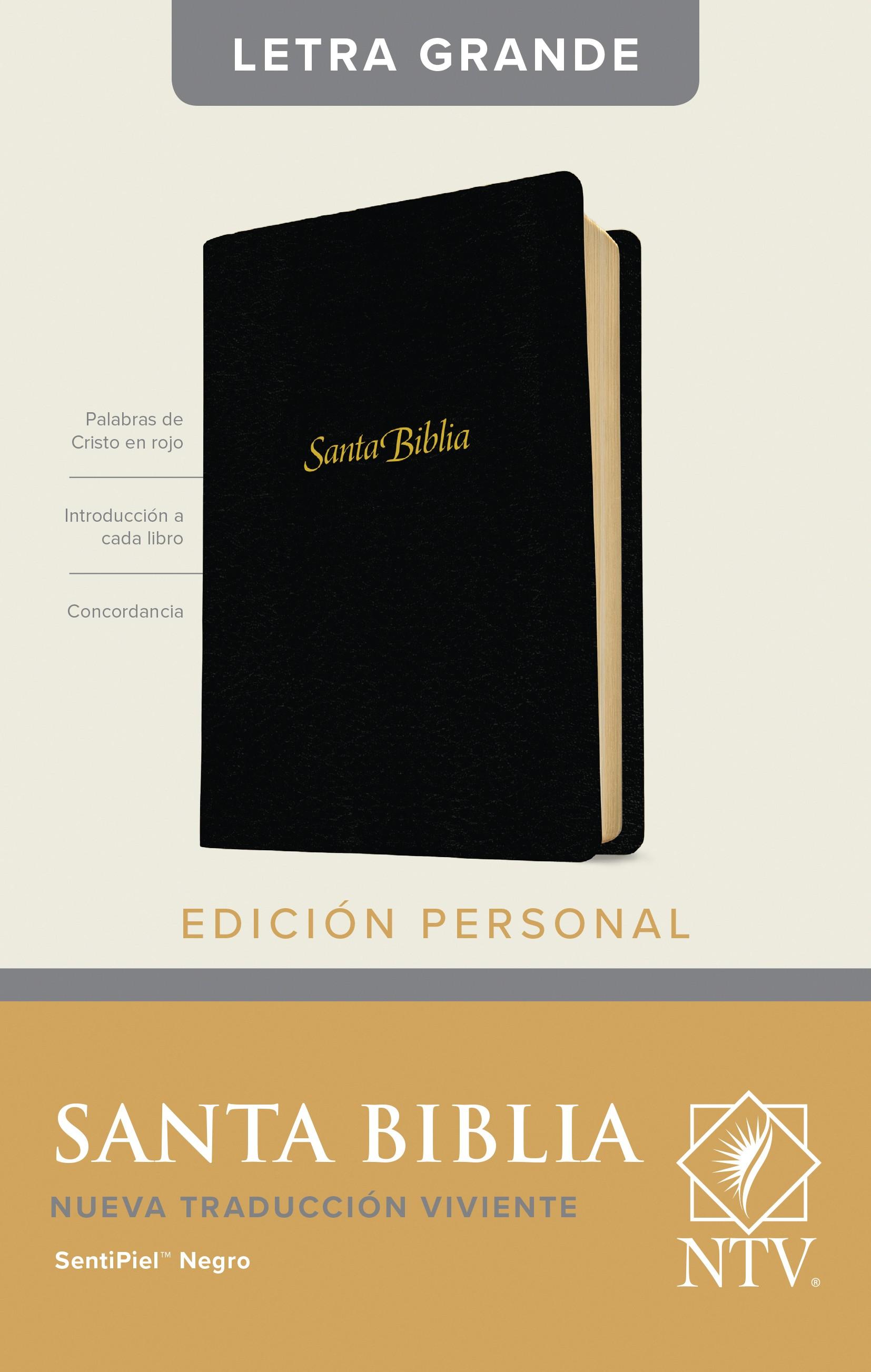 Santa Biblia NTV, Edición personal, letra grande (Letra Roja, SentiPiel, Negro)