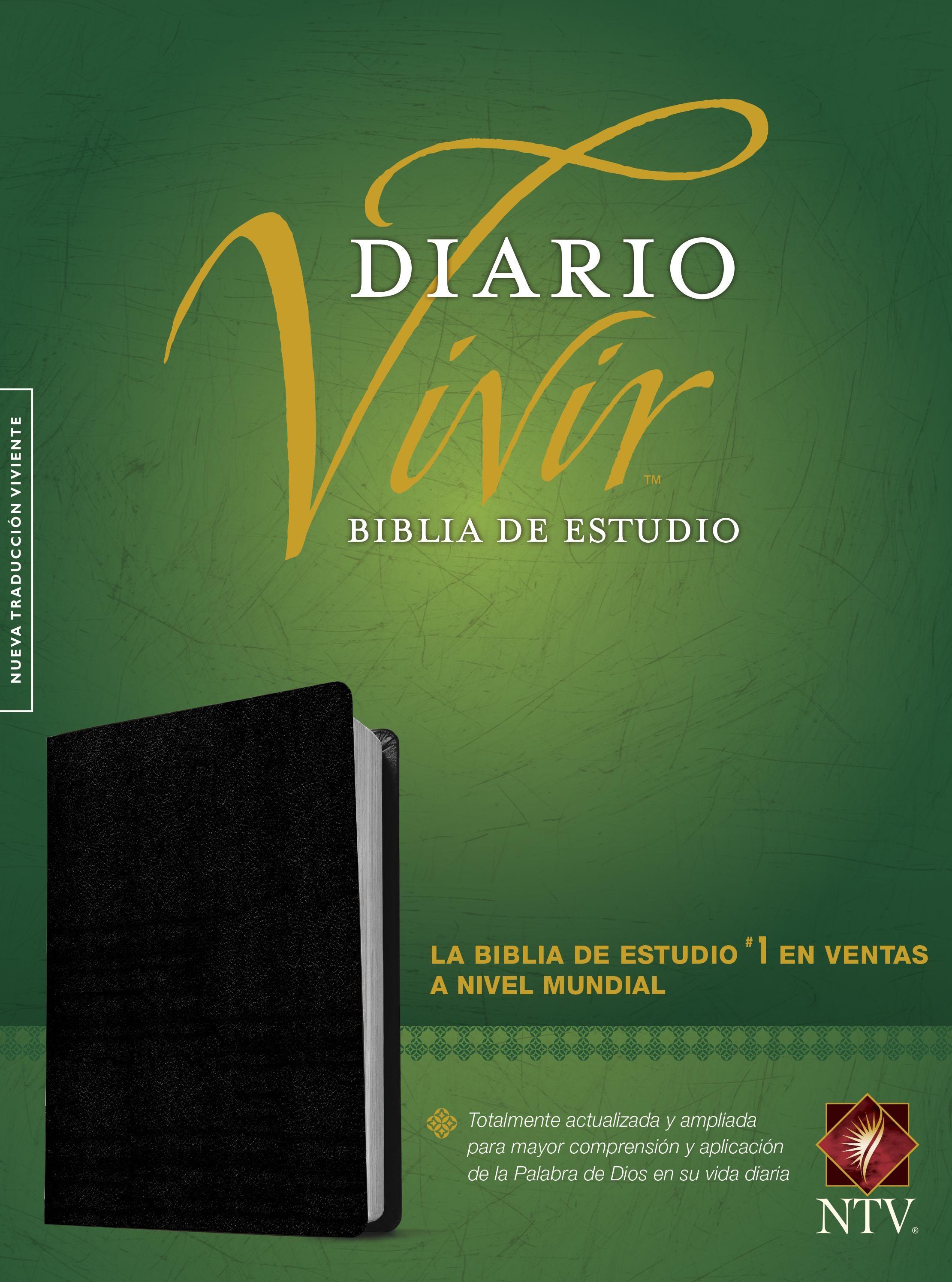 Biblia de estudio del diario vivir NTV (Letra Roja, Piel fabricada, Negro, Índice)