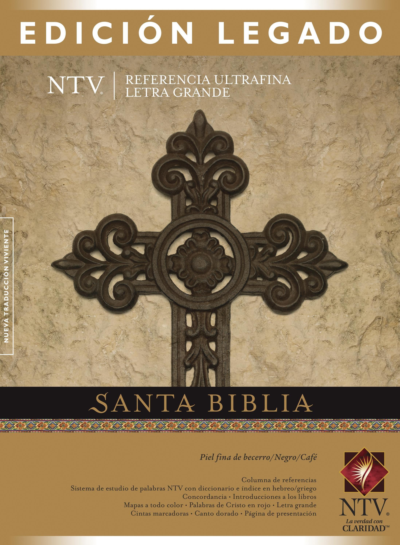 Santa Biblia NTV, Edición legado (Letra Roja, Piel fina de becerro, Negro/Café)