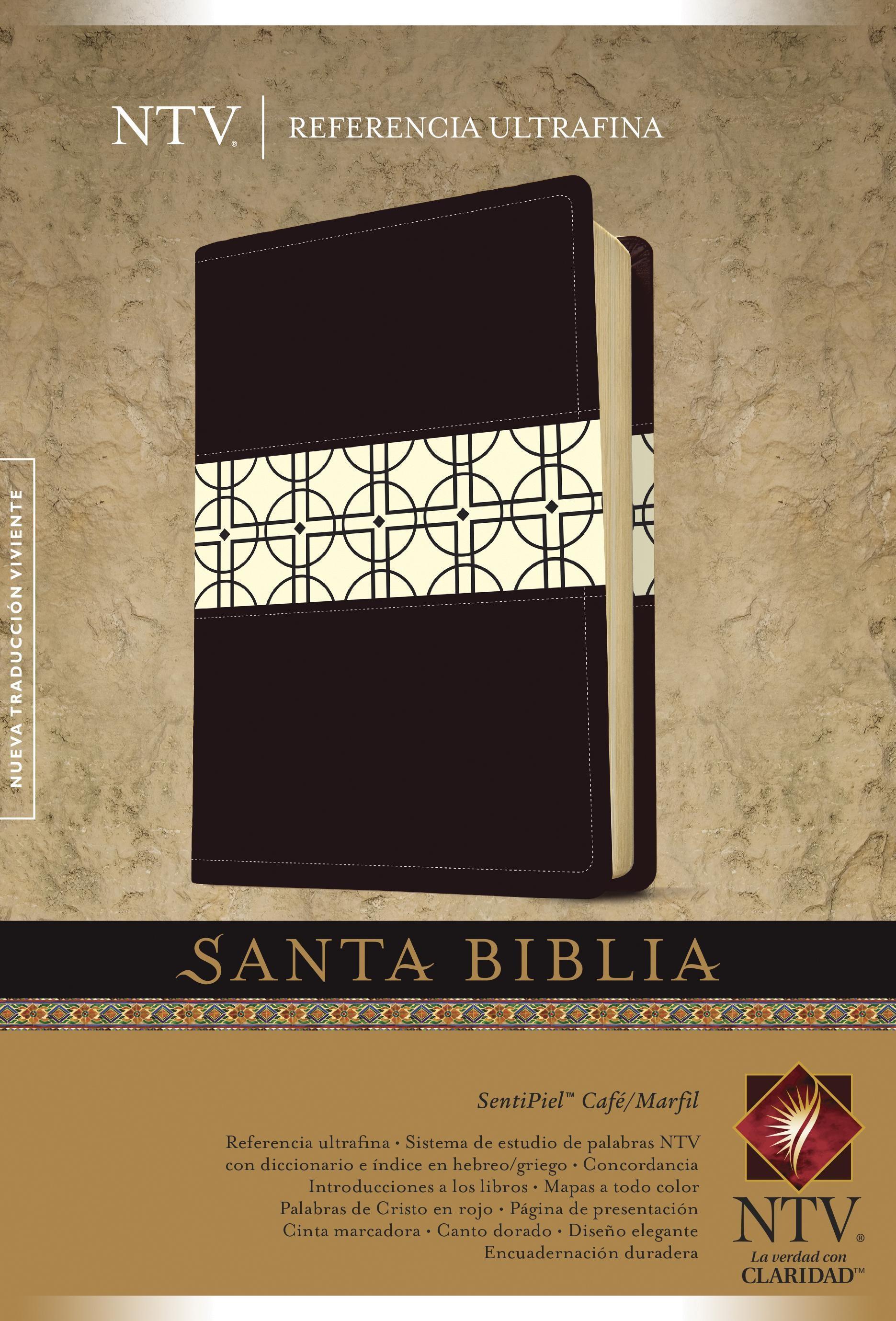 Santa Biblia NTV, Edición de referencia ultrafina, DuoTono (Letra Roja, SentiPiel, Café/Marfil)