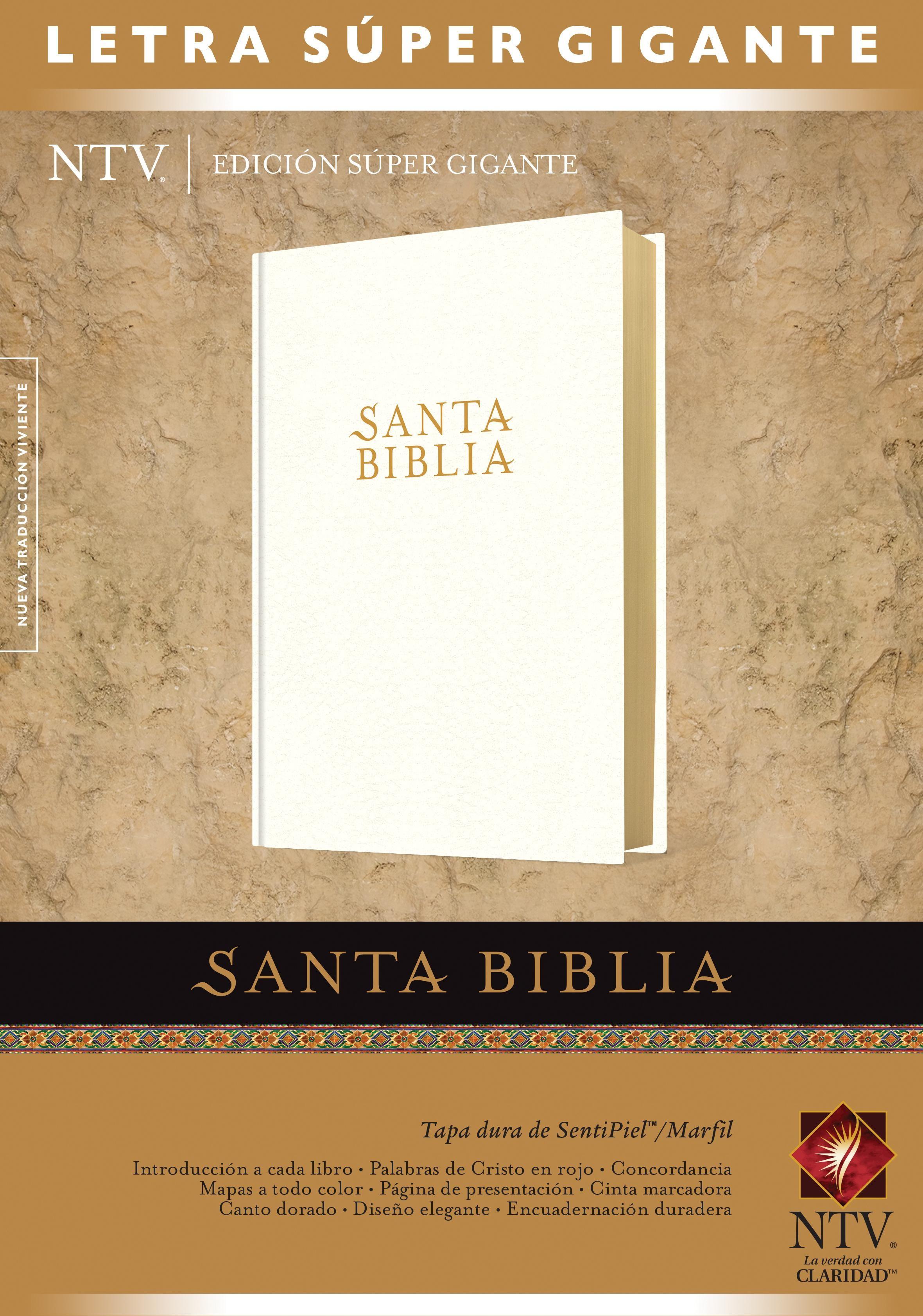 Santa Biblia NTV, Edición súper gigante (Letra Roja, SentiPiel, Marfil, Índice)