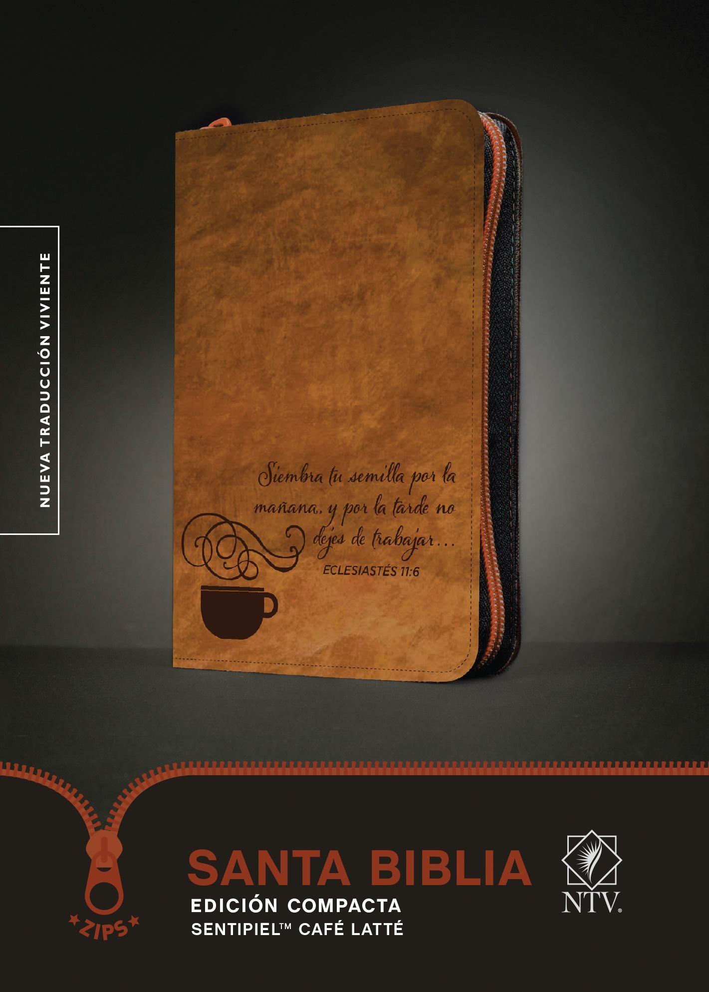 Santa Biblia NTV, Edición compacta, Café latté: Holy Bible NTV, Compact Edition, Coffee Latte