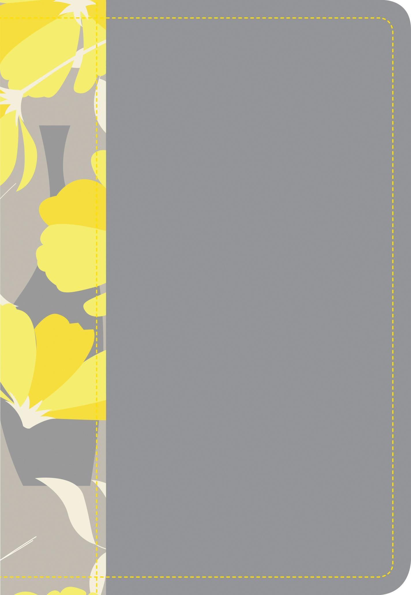 Santa Biblia NTV, Edición compacta letra grande (Letra Roja, SentiPiel, Gris/Amarillo)