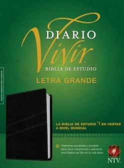 Biblia de estudio del diario vivir NTV, letra grande (Letra Roja, SentiPiel, Negro, Índice)