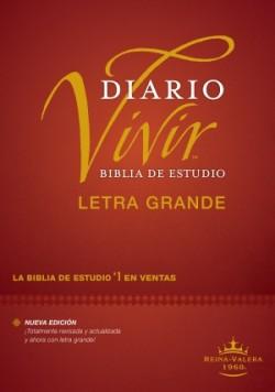 Biblia de estudio del diario vivir RVR60, letra grande (Letra Roja, Tapa dura)