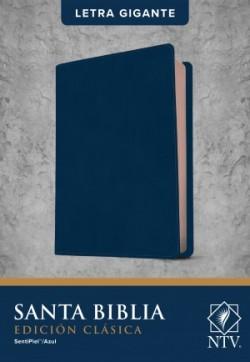 Santa Biblia NTV, Edición clásica, letra gigante (Letra Roja, SentiPiel, Azul)