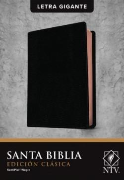 Santa Biblia NTV, Edición clásica, letra gigante (Letra Roja, SentiPiel, Negro)