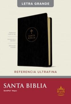 Santa Biblia RVR60, Edición de referencia ultrafina, letra grande (Letra Roja, SentiPiel, Negro)