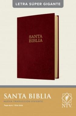 Santa Biblia NTV, letra súper gigante (Letra Roja, Tapa dura, Vino tinto)