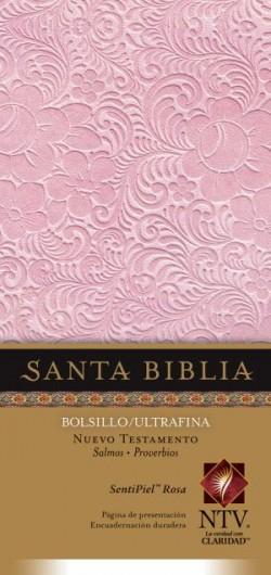 Nuevo Testamento con Salmos y Proverbios NTV, Edición bolsillo ultrafina (SentiPiel, Rosa)