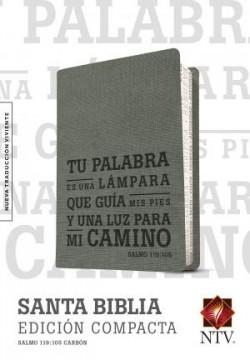 Santa Biblia NTV, Edición compacta, Salmo 119:105 (SentiPiel, Carbón)