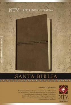 Santa Biblia NTV, Edición de referencia ultrafina (Letra Roja, SentiPiel, Café rústico)