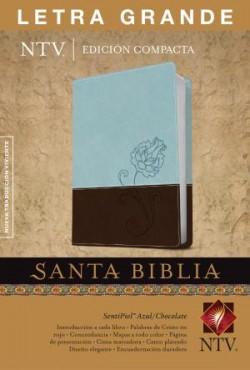 Santa Biblia NTV, Edición compacta letra grande, DuoTono (Letra Roja, SentiPiel, Azul/Chocolate)