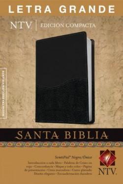 Santa Biblia NTV, Edición compacta letra grande, DuoTono (Letra Roja, SentiPiel, Negro/Ónice)