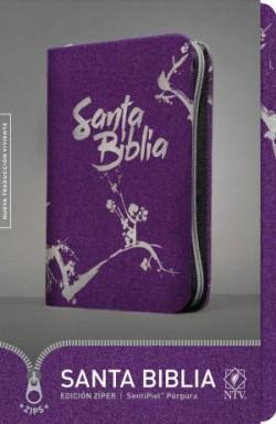 Santa Biblia NTV, Edición zíper (SentiPiel, Púrpura)