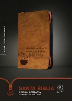 Santa Biblia NTV, Edición compacta, Café latté (SentiPiel)