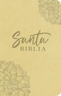 Santa Biblia NTV, Edición ágape, Flor (SentiPiel, Beige)